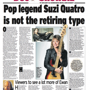 Suzi Quatro- Scottish Daily Express