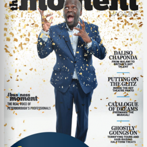 Daliso Chaponda on cover of the moment magazine